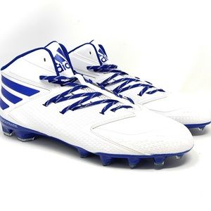 Mens Adidas Football Quickframe Cleats White Blue